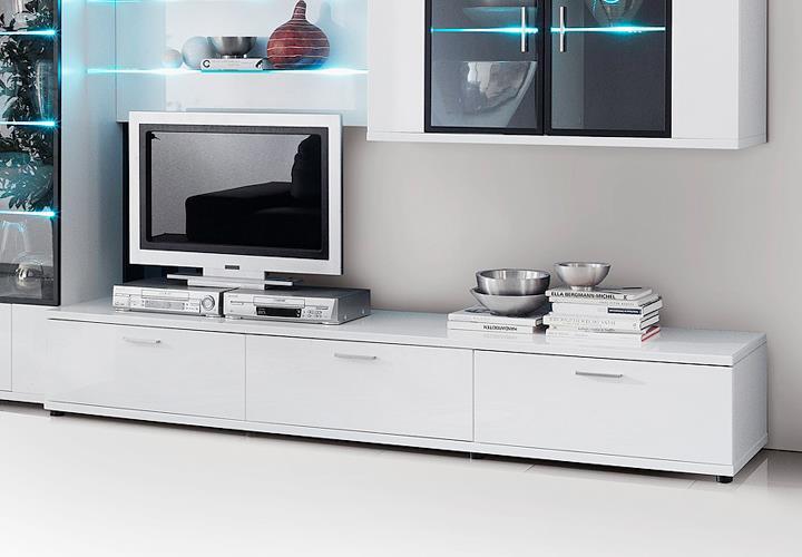 Lowboard Corano TV Board Wohnzimmer Media Mbel in hochglanz wei  eBay