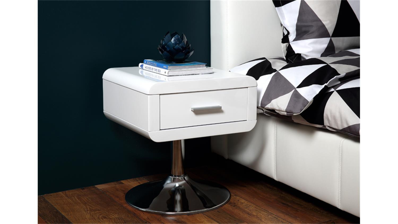 Schlafzimmer Nachttisch Weiss Hochglanz