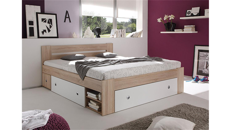 stauraumbett 140x200 wei bett 140x200 cm doppelbett stauraumbett real. Black Bedroom Furniture Sets. Home Design Ideas