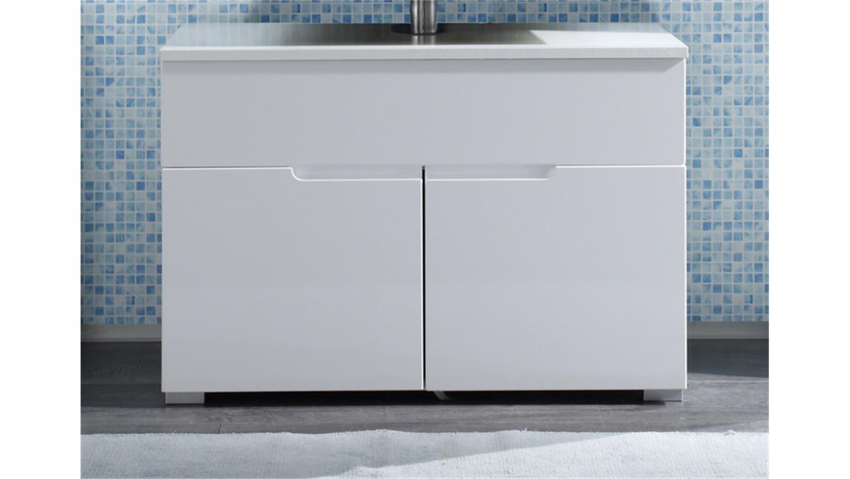 Waschbeckenunterschrank SPICE Badezimmer wei Hochglanz
