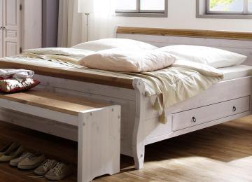 Schlafzimmer Antik | Schlafzimmer Kiefer Massiv Weiss Braun Mabio1