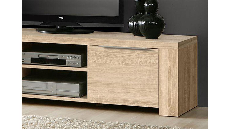 TV Board CALPE Lowboard Wohnzimmer in Sonoma Eiche sgerau