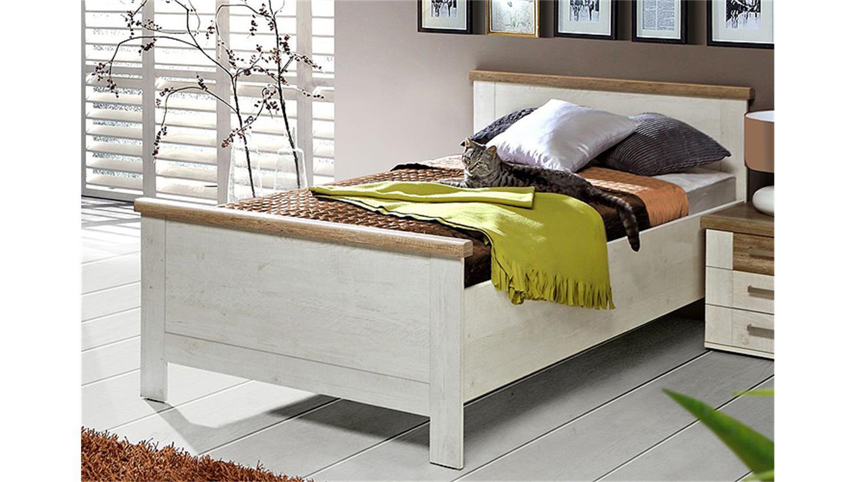 Bett 100x200 Eiche Beautiful Bett X Cm Pinie Weiss Trffel