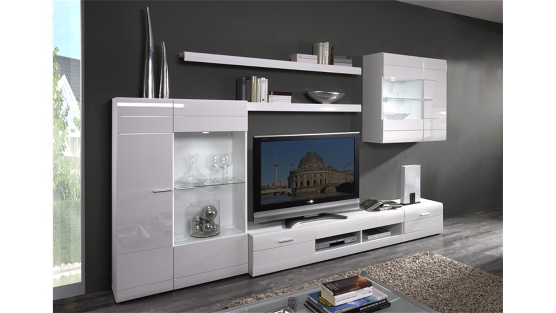 wohnzimmerm bel weiss hochglanz wohnzimmer parana weiss. Black Bedroom Furniture Sets. Home Design Ideas