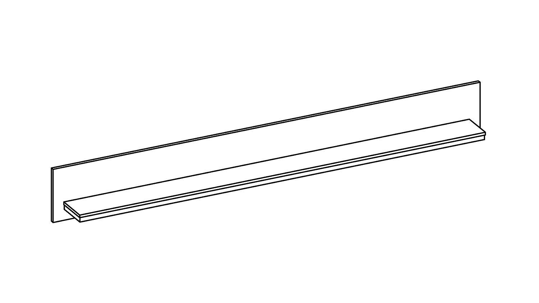 Wandboard Schwarz. Loca Straights Wandboard Schwarz With