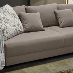 Big Sofa Eckcouch Light Gray Fabric Halbrund B