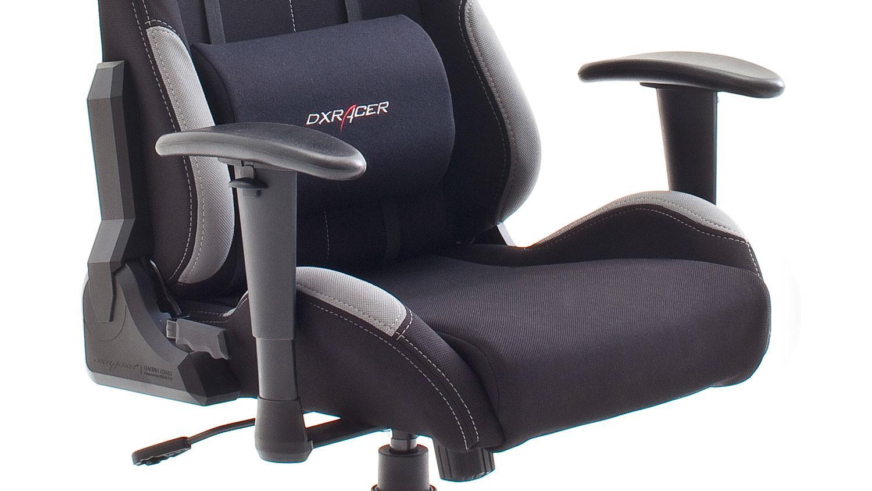 x racer chair childrens wooden rocking chairs bürostuhl dx 5 game in stoff schwarz grau