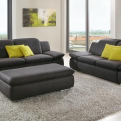 Dillon Chair 1 2 Large With Ottoman Sofa Isona 3 Sitzer Stoff Anthrazit Mit Komfortfunktion
