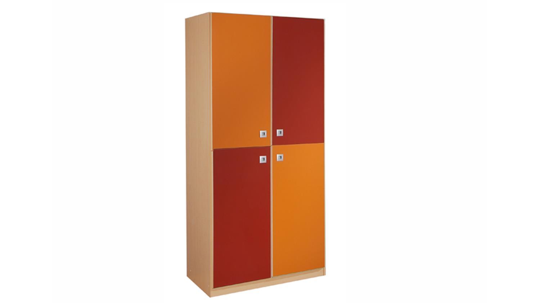 Kleiderschrank Orange