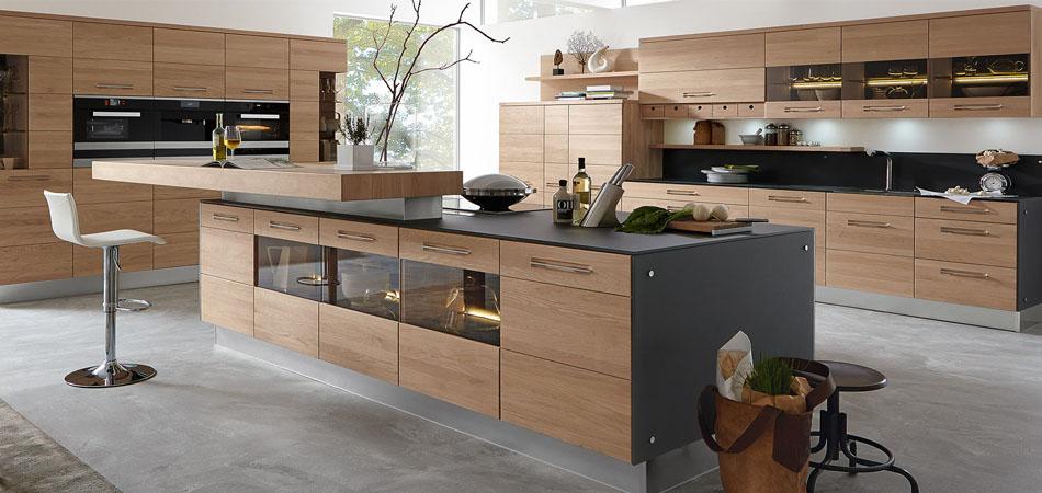 Bevorzugt Kücheninsel Maße   Arbeitsplatte Wenge Mit Durchgehenden Lamellen RD04