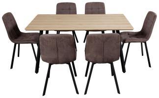 Tischgruppe mit sechs Stühlen online kaufen
