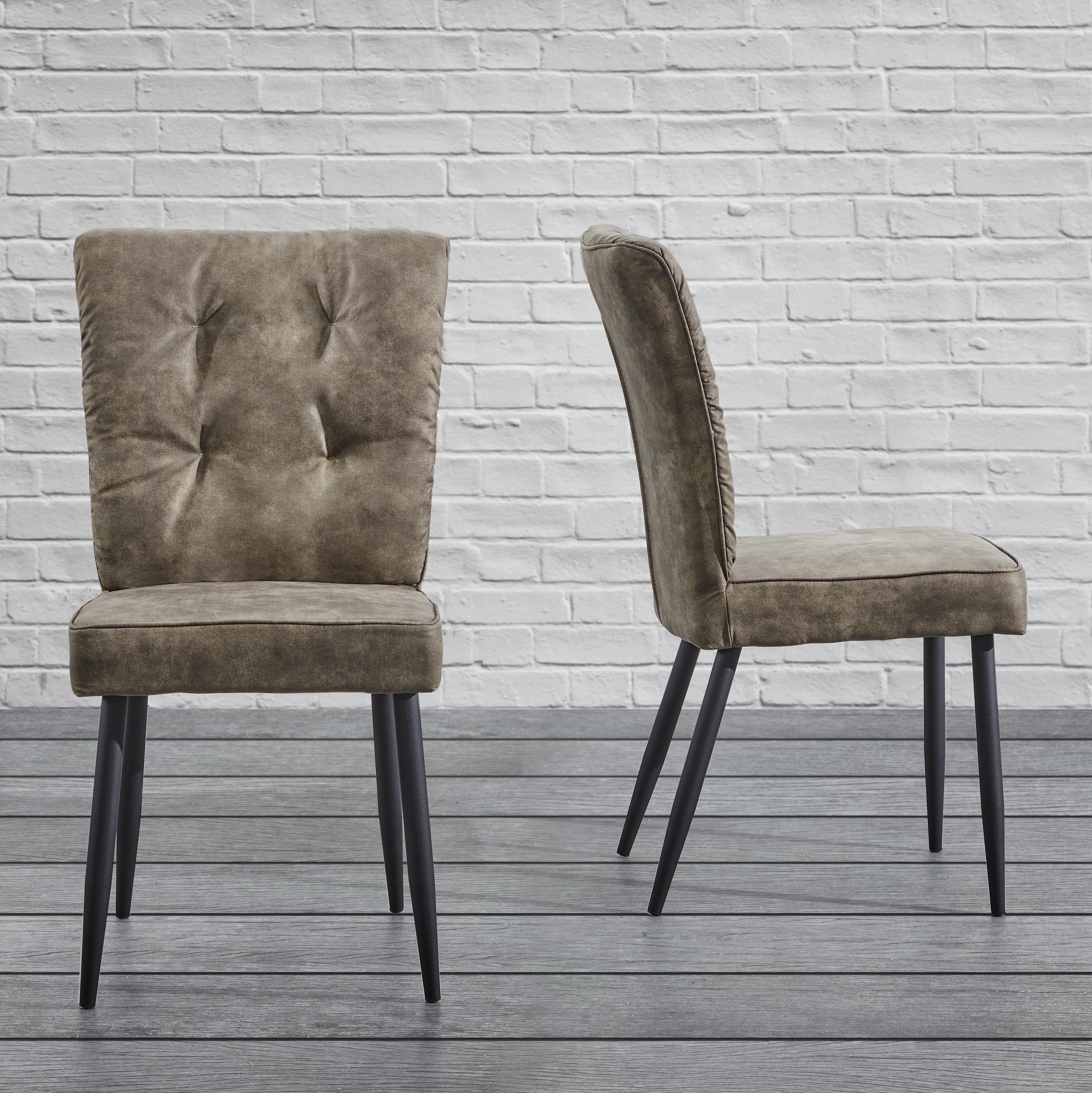 Braun Stuhl | 2 X Stuhl Maui In Braun Kunstleder Und