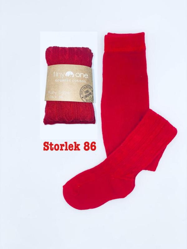 "Röda strumpbyxor ""Tiny One"" stl 86 (Fri frakt)"