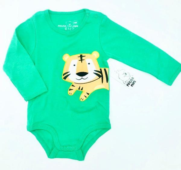 Grön body med lejon storlek 68