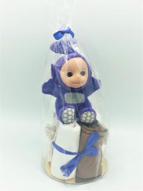 Startpaket bebis - blöjtårta Lila/brun