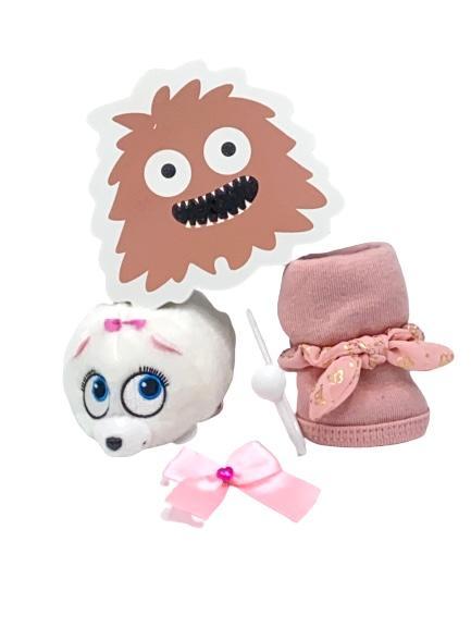 Presentpåse bebis - Ty , krok, hårband, dregglis