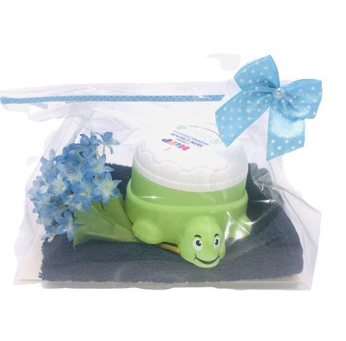 Presentpåse - tvättlapp frotté, Hipp bodylotion för barn