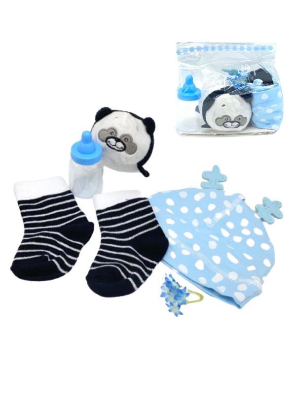 Presentpåse bebis - gosedjur, mössa, strumpor