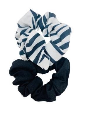 2 scrunchie - zebra och svart