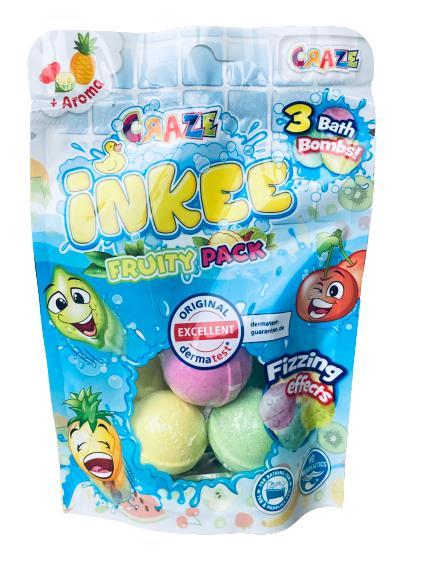 Craze Inkee Fruity pack - 3 små badbomber med doft