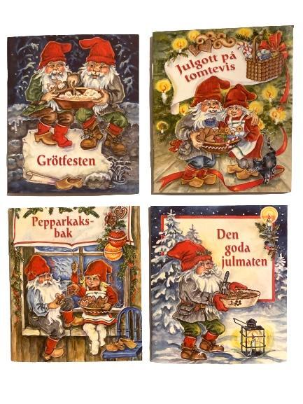 4 st små julböcker (ålder 3-6 år)