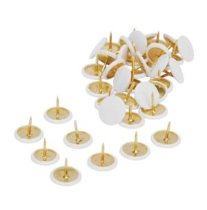100 st häftstift vit/guld