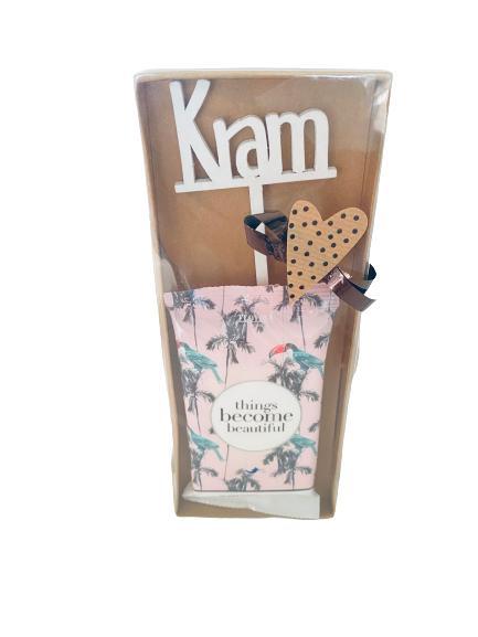 Makeup servetter + träskylt KRAM