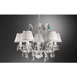 1 illuminazione camera da letto: Karen Lampadario 5 Luci Misure 60x60x105 Cm Gc7m