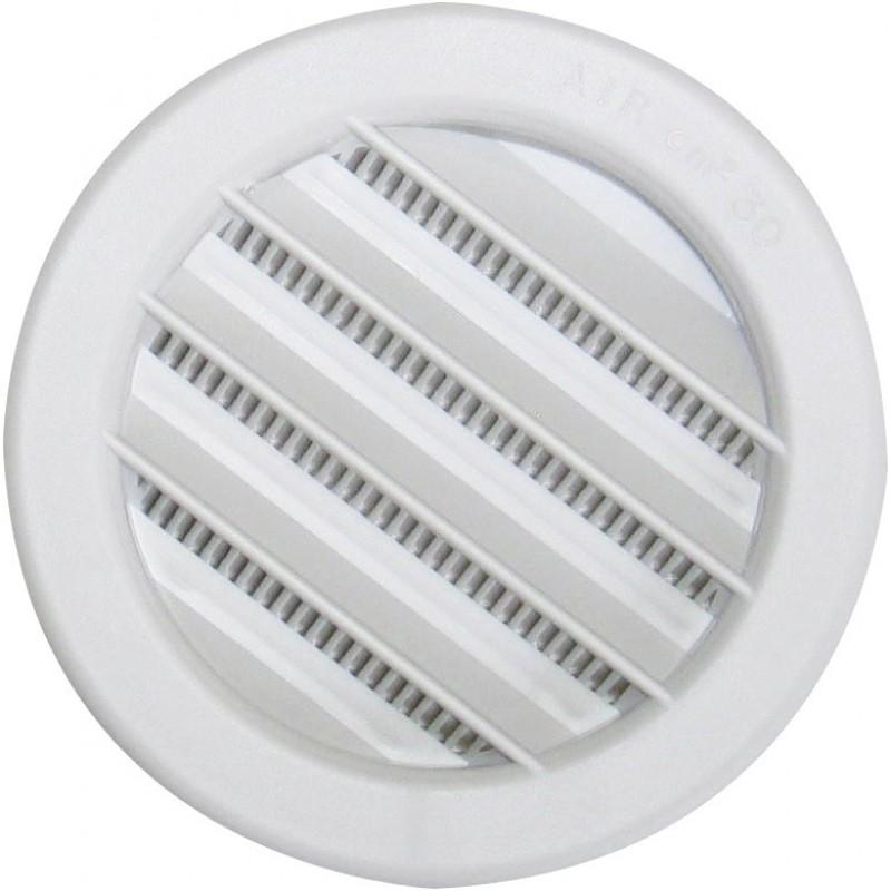 Grille plastique universelle  encastrer DMO  Diamtre 100 mm de Grille de ventilation