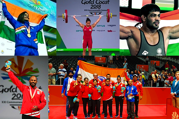 India Gold Coast 2018 Common Wealth Winners