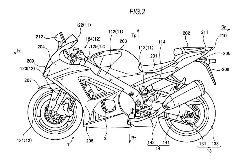 Suzuki GSX-R 750 e GSX-R 1000 Turbo: le foto dei brevetti