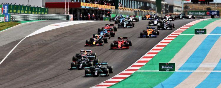 La partenza del GP del Portogallo