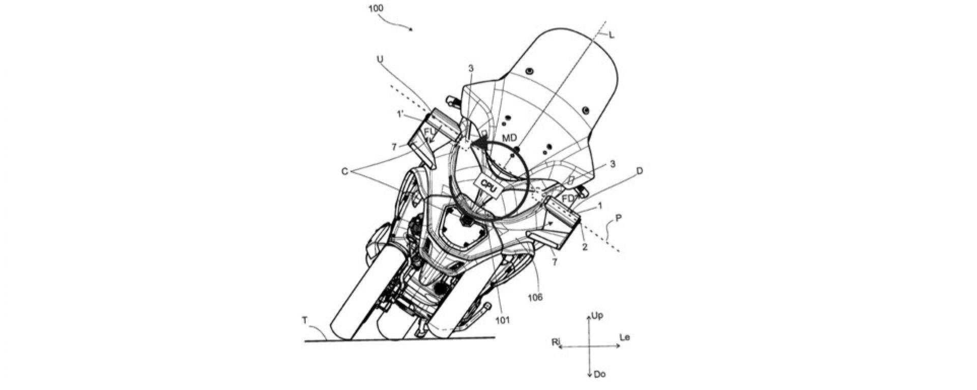 Piaggio MP3, i brevetti delle alette e dell'aerodinamica