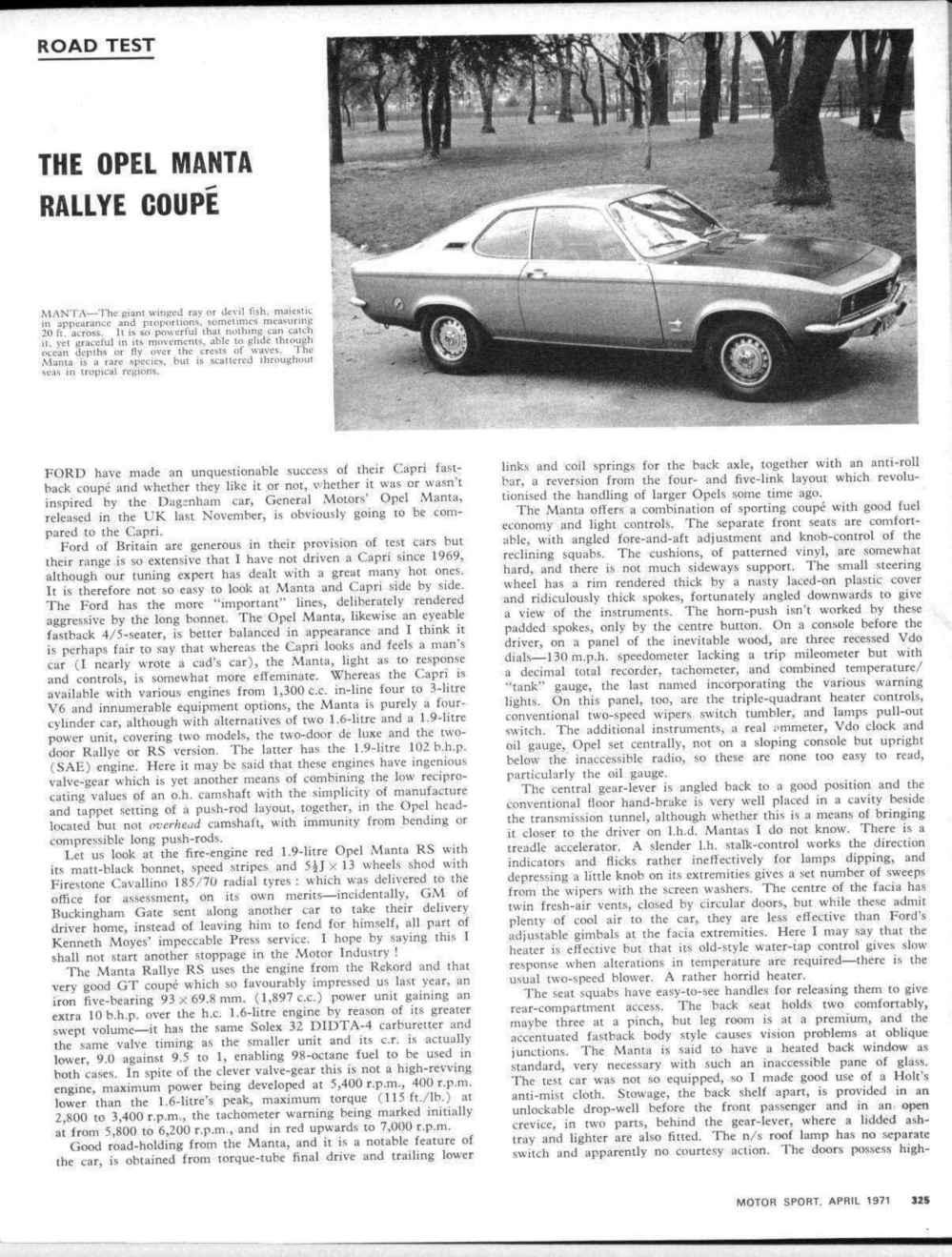 medium resolution of road test the opel manta rallye coup