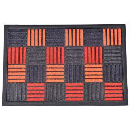 tapis caroll nylon caoutchouc orange 60 x 40