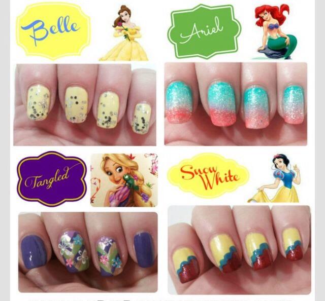 Easy Disney Princess Nail Designs
