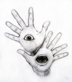 drawings drawing creative trippy surrealism pencil sketch sketches musely hands draw artwork creepy scary october desenhos dreamlike using easy surreal