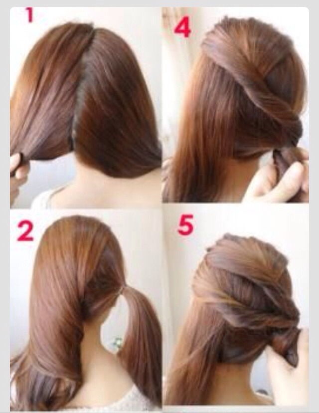 Cute Easy Hairstyles For Long Hair Work Easy Casual Hairstyles