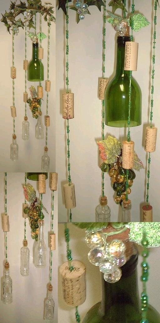 Diy Wine Bottle Wind Chime By Tbird Rodrigues Musely
