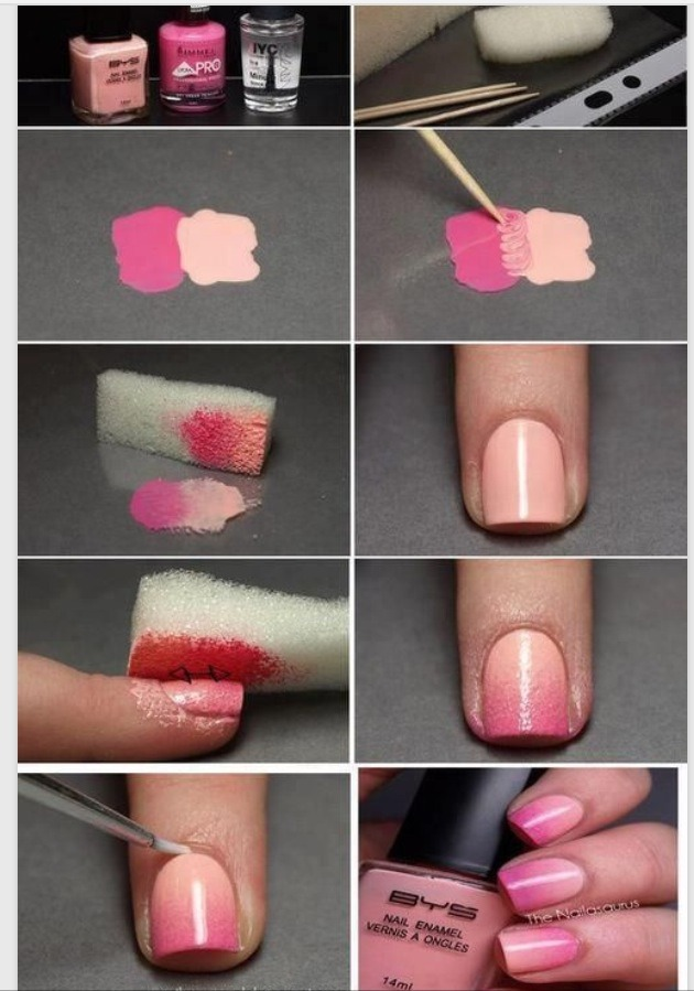 1 Mix Two Colours Of Your Choosing Together 2 Paint Nails A Solid