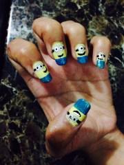 cute minions inspired nail art