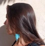 henna hair colour- dark brown