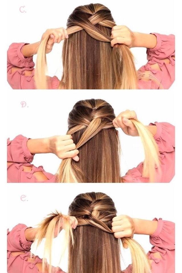 Easy DIY cheat french braid by lisa dawson - Musely