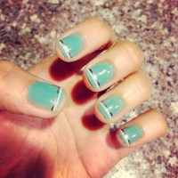 strip tape nail design - Musely