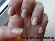 daisy nail design- cute pls