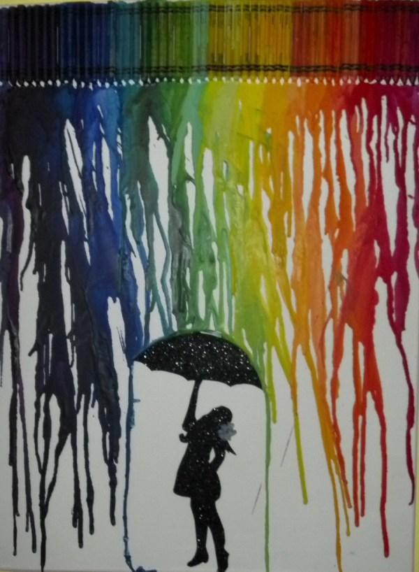 Melting Crayon Art Ideas &- Rushna - Musely