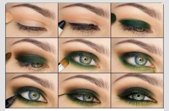 Green Eye Makeup Tutorial 💞