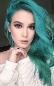 green hair color ideas