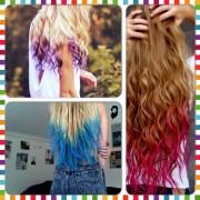 dip dye hair with kool-aid