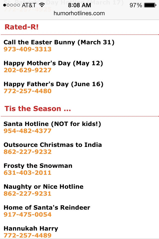 Funny Hotline Numbers To Call 2014 : funny, hotline, numbers, Funny, Numbers
